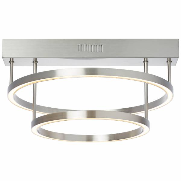 Tunar Led Ceiling Light 2 Flames Round Nickel