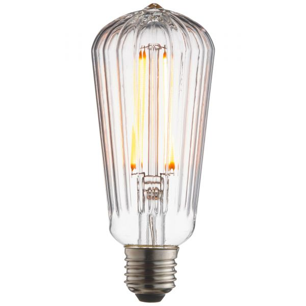 LED Edisonlampe ST64 Filament E27 4W 450lm 2200K transparent