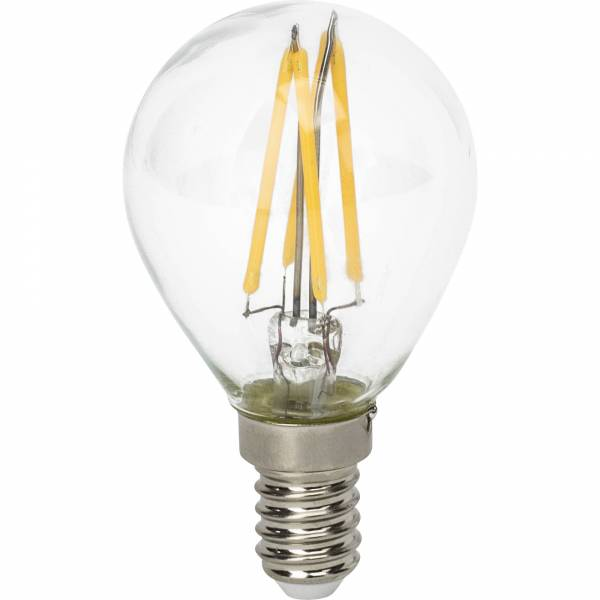 LED-Tropfenlampe Filament E14, 4W, 450lm warmweiß 2700K Brilliant AG 96708E65